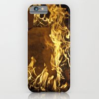 iPhone & iPod Case featuring Fiery footprints  by 50one50 photography