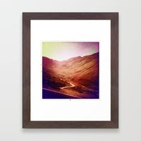 Mountains Framed Art Print