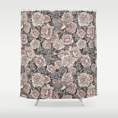 Flowers & Swallows Shower Curtain