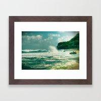Stormy sea Framed Art Print