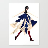 High Fashion With Shapes Canvas Print