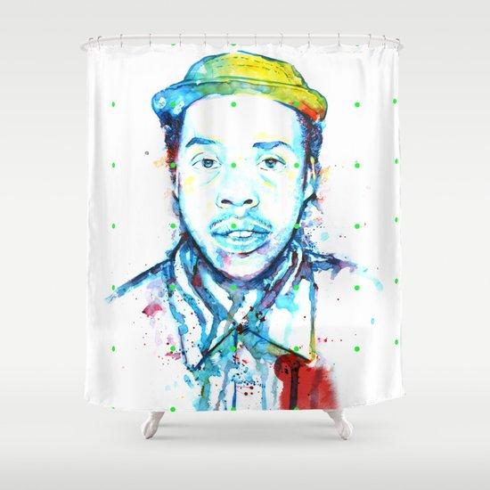 """Doris"" by Justin Hopkins Shower Curtain"