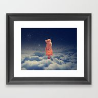 Galactic Traveller Framed Art Print