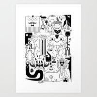 Monsters Ink Art Print