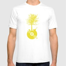 Vinyl Tree White SMALL Mens Fitted Tee