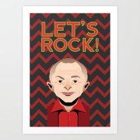 twin peaks Art Prints featuring Twin Peaks by Ossil Phoenix