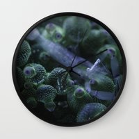 Anemone Shrimp on Bubble Tip Anemone Wall Clock