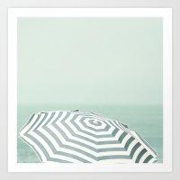 Parasol - Summer Beach B… Art Print