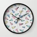 Paper Planes in Pastel Wall Clock