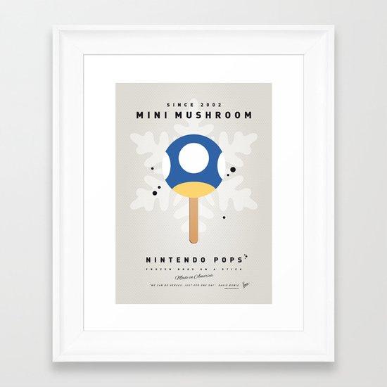 My NINTENDO ICE POP - Mini Mushroom Framed Art Print