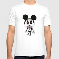 Weird Mickey Mens Fitted Tee White SMALL