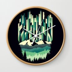 Sunrise in Vertical - Winter Blues Wall Clock