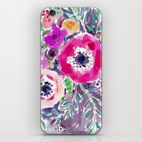 RED ANEMONE SPRAY FLORAL iPhone & iPod Skin