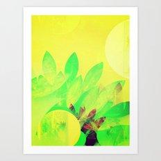 Tropical Sun Drops heat Art Print