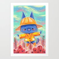 Raincoat 2 Art Print