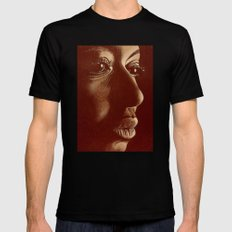 mama africa- brown Black Mens Fitted Tee SMALL