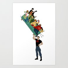 Young Justice // all together now Art Print