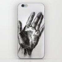 hand drawing hand iPhone & iPod Skin