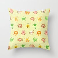 Baby Animals Throw Pillow