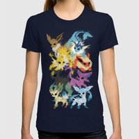 Eeveelutions Womens Fitted Tee Navy SMALL