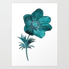 Anemone Watercolor Art Print