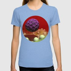 Nurturing Womens Fitted Tee Tri-Blue SMALL
