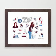 Lithography Is Easy *sai… Framed Art Print