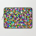 Psychedelic Colors Bright Polka Dots Laptop Sleeve