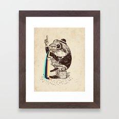 Strange Frog Framed Art Print