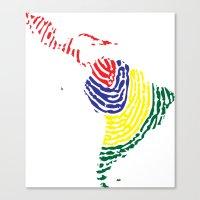 Latin America Canvas Print