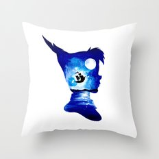 Peter Pan Double Exposure Throw Pillow