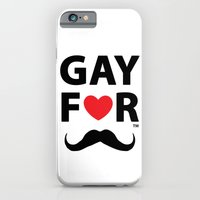 iPhone & iPod Case featuring Gay For Moustache by GayForAmerica