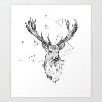 Frankly Deer Art Print