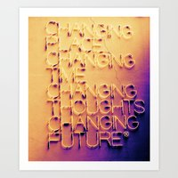 Changing Art Print