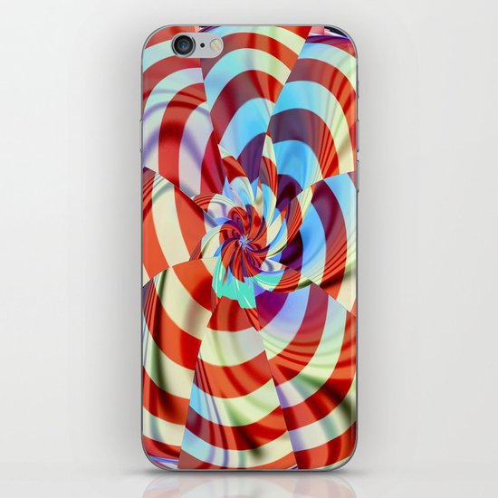 Red White and Blue iPhone & iPod Skin