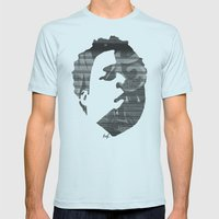 Dynamik Face Mens Fitted Tee Light Blue SMALL