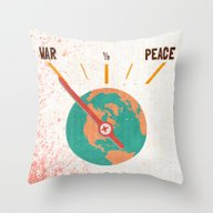 Throw Pillow featuring Low On Peace by Josh Franke