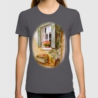 A Window In Hungary Womens Fitted Tee Asphalt SMALL