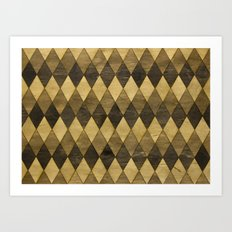 Wooden Diamonds Art Print