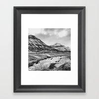 pyramid peaks Framed Art Print