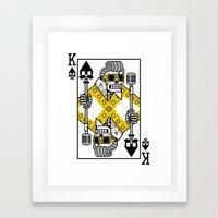 Dead King Card Framed Art Print