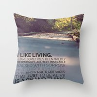 I Like Living - Agatha C… Throw Pillow