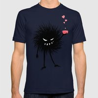 Evil Bug Made A Love Pot… Mens Fitted Tee Navy SMALL