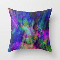 summer dye Throw Pillow