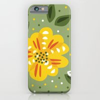 Abstract Yellow Primrose Flower iPhone 6 Slim Case