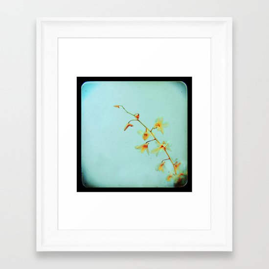Baby Blue Framed Art Print