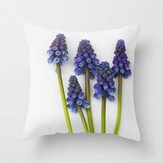 Muscari - Blue Grape - JUSTART © Throw Pillow