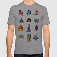 Monster Shapes Mens Fitted Tee Athletic Grey SMALL