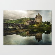 Landscape with an old castle Canvas Print