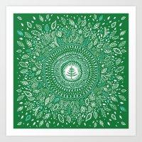 Christmas Tree Mandala Art Print